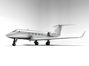 gulfstream iii private jet 3d model