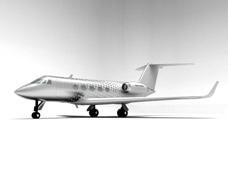 gulfstream iii private jet 3d model