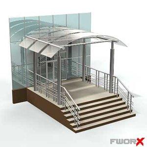 3d model entrance shed