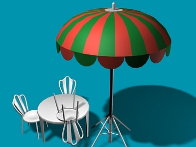maya open-air cafe umbrella table chair