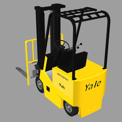 3d model forklift yale industrial vehicle