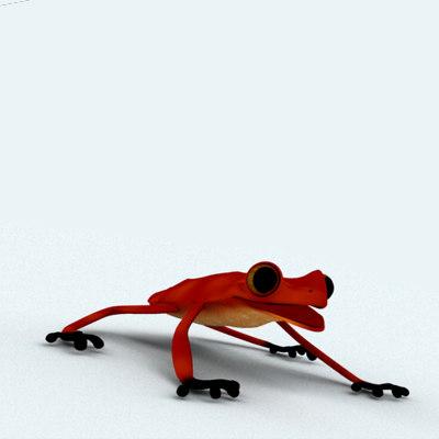 frog biped morph 3d model