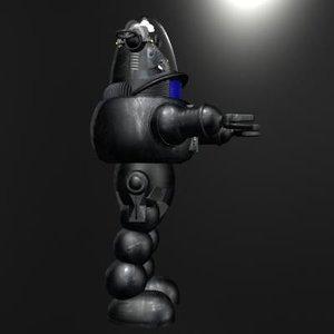 3d model robby robot film