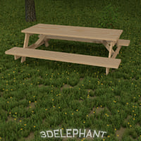 3d table picnic model