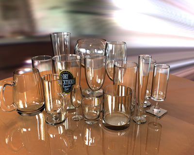 3d glassware pint glass model