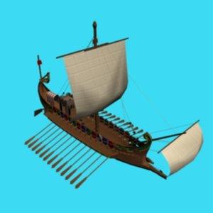 3ds max ancient roman ship