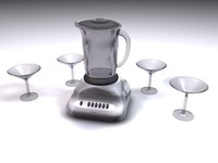 3d electric blender martini glasses