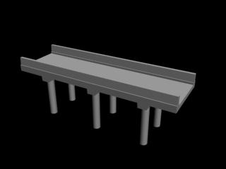free bridge highway section 3d model