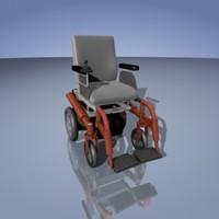 wheel chair 3d max