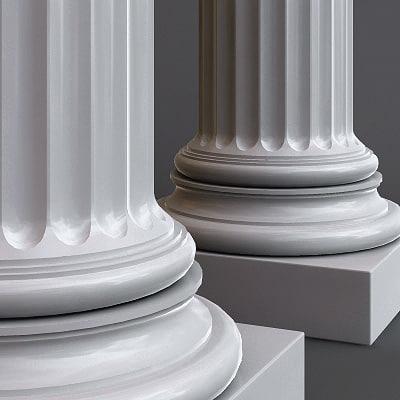 column doric order 3d 3ds