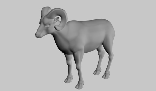 bighorn sheep 3d model