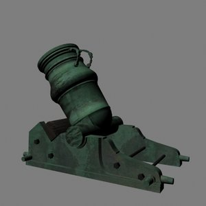18th french mortar cannon 3d model