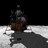 3ds apollo lunar module