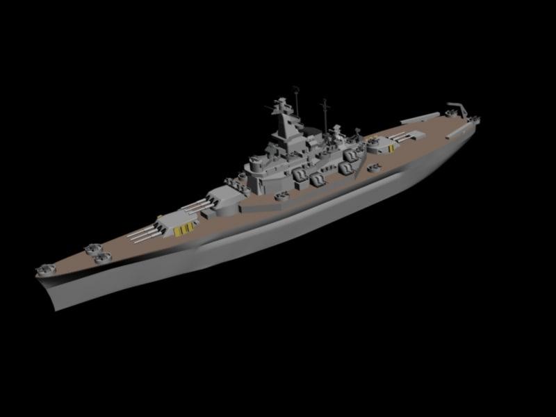 battleship south dakota 3d max