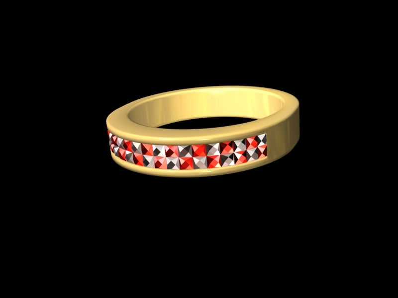 lightwave diamond ring ruby