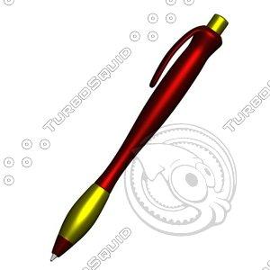 ergonomic pen 3d 3ds