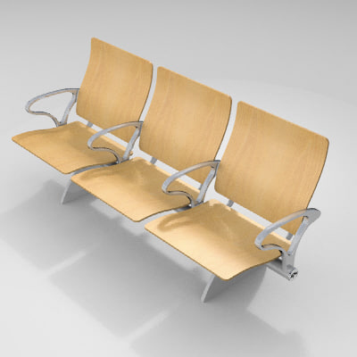 3d model zenky seating airport zipped