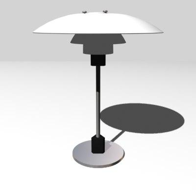 3d model of lamp ph 4 3