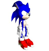 free sonic hedgehog 3d model