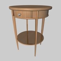 nightstand wooden 3d x