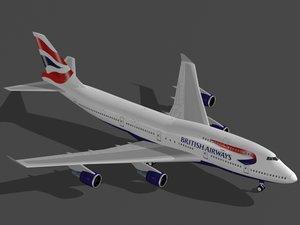 3ds b 747-400 british airways