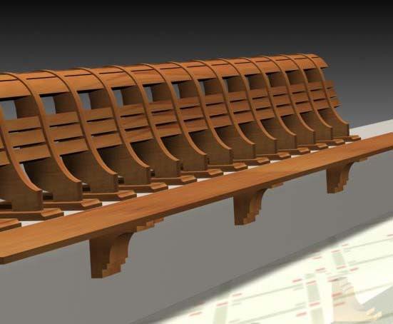 houses hand rail 3d model