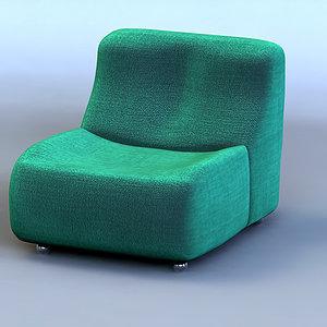 armchair 3d 3ds