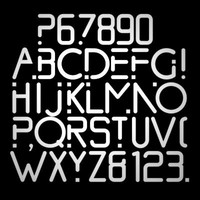 3ds font medium