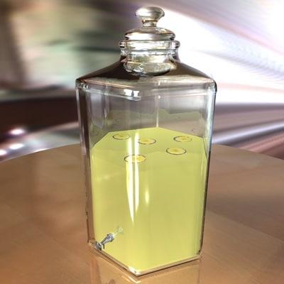 beverage jar 3d model