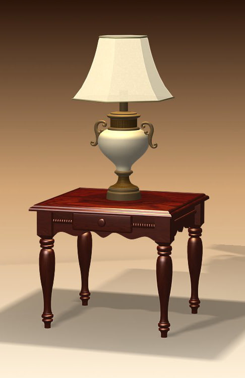 end table 3d model