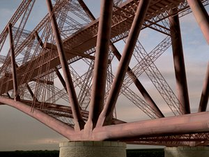 forth bridge 3d model