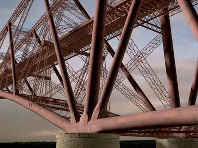 forth bridge 3d model