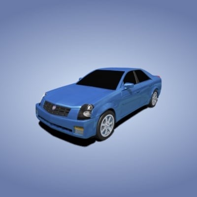 3d cadillac car