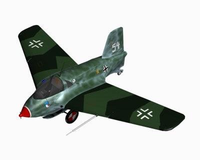 messerschmitt fighter 3d c4d