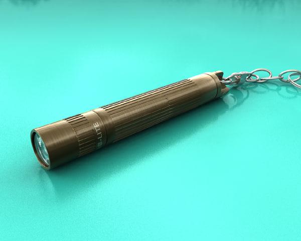 3d maglite torch model
