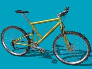 3ds max suspension mountain bike
