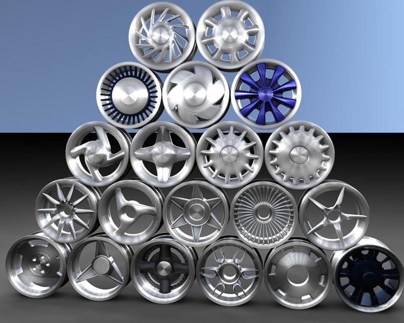 3d model cars wheel
