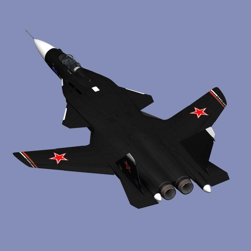 su-47 berkut 3d model