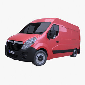 opel movano l2h2 rigging 3d model