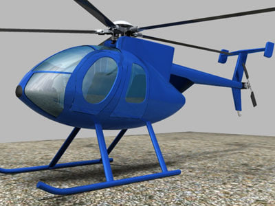 3ds helicopter md500e