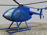 Helicopter MD500E_DWG