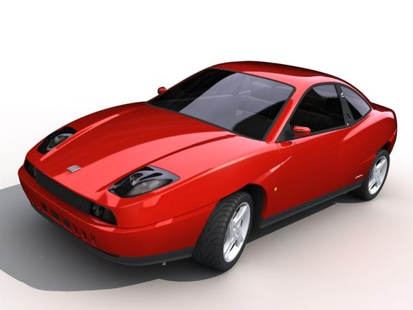fiat coupe 3d model