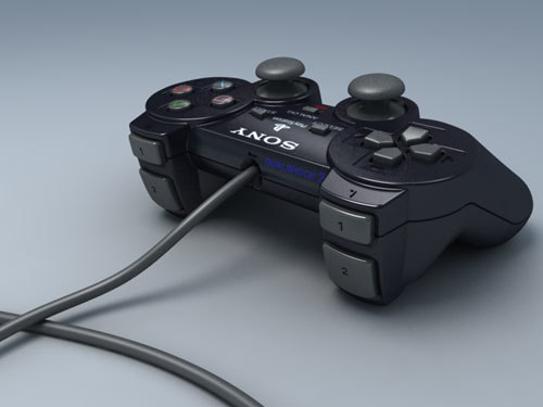 ps2 gamepad 3d model