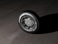 3d model hummer h2 wheel