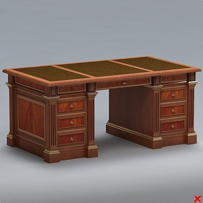 3ds max desk writing