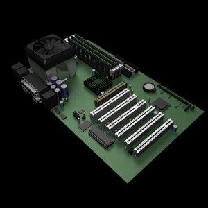 3d motherboard model