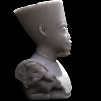 3d model pharaon statues