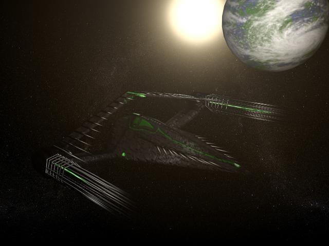unique spaceship 3d model