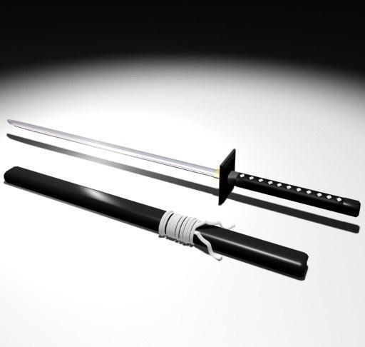 3ds max ninja sword
