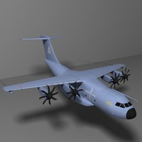 3d model a400m airbus transport airplane